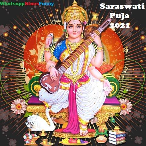Happy Saraswati Puja 2021 Whatsapp Status Video Download